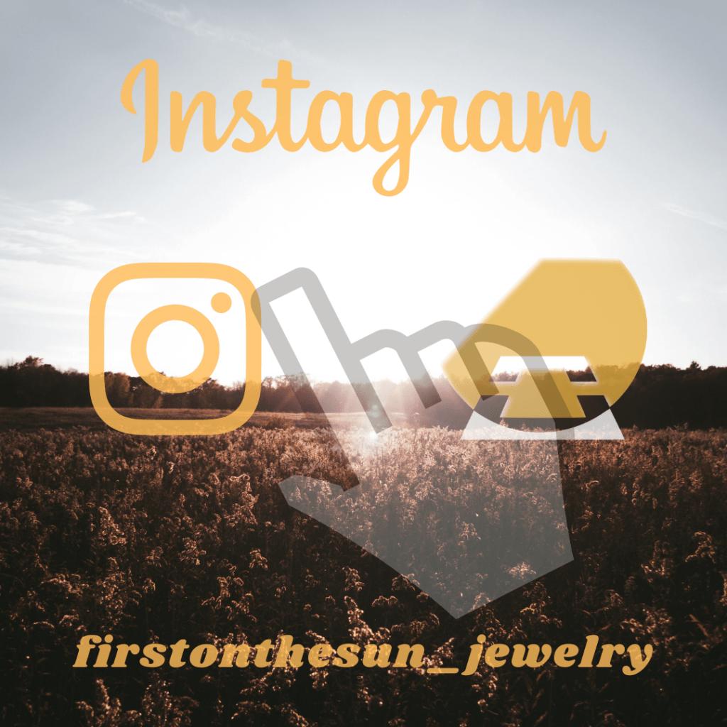 Feld mit Sonnenstrahlen und Instagram-Logo, firstonthesun-Logo und Cursor.