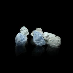 Handgearbeitete Wasserstein Edelsteinmischung bestehend aus 2x Girasol, 2x Blauer Calcit & 2x Magnesit