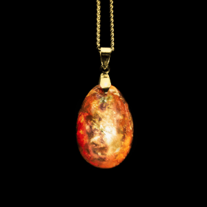"Orgonit Kette ""Golden Pumpkin"" [Halloween Collectors] in Orange mit Leuchtkraft"